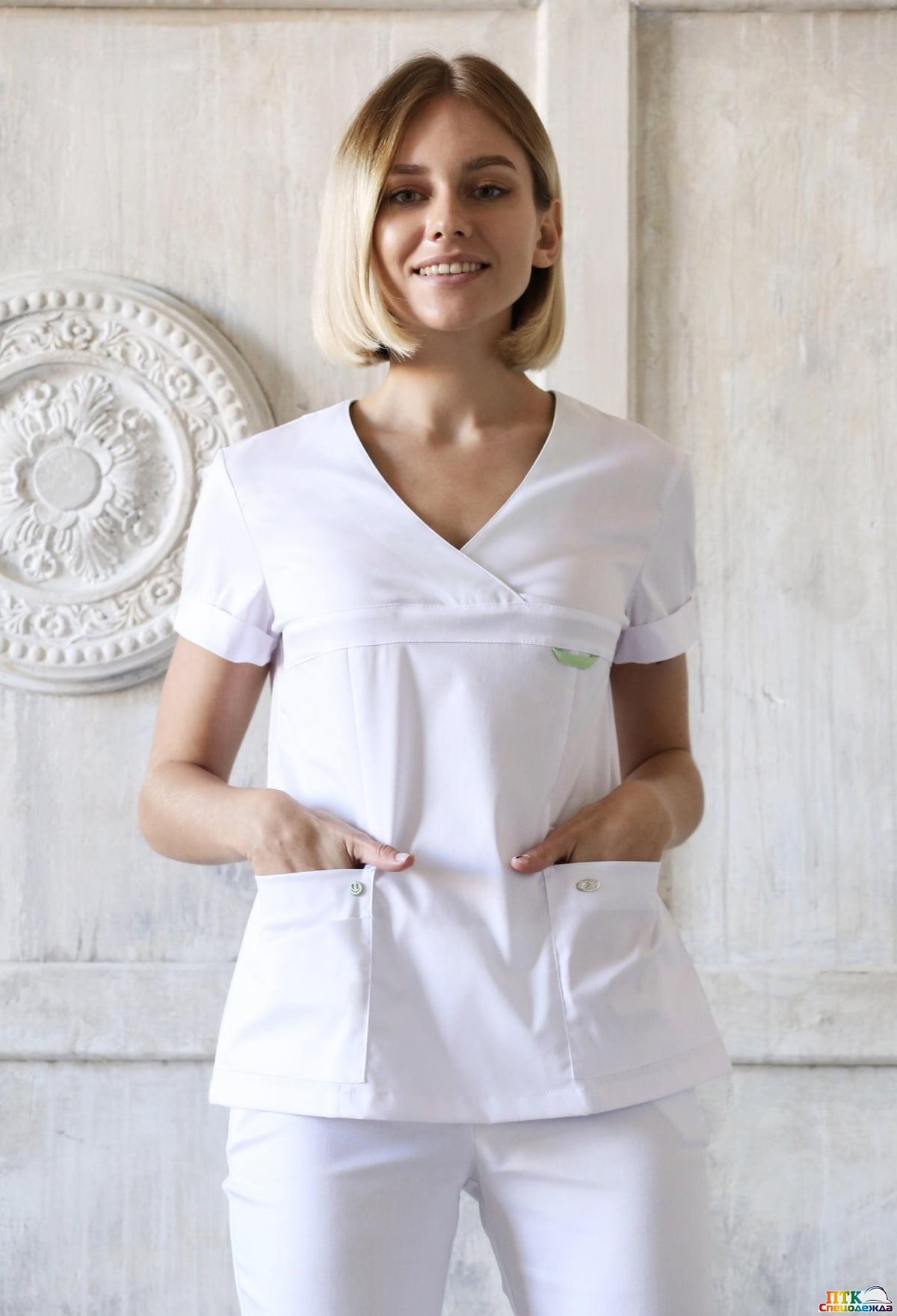 Блуза Альфа белого цвета