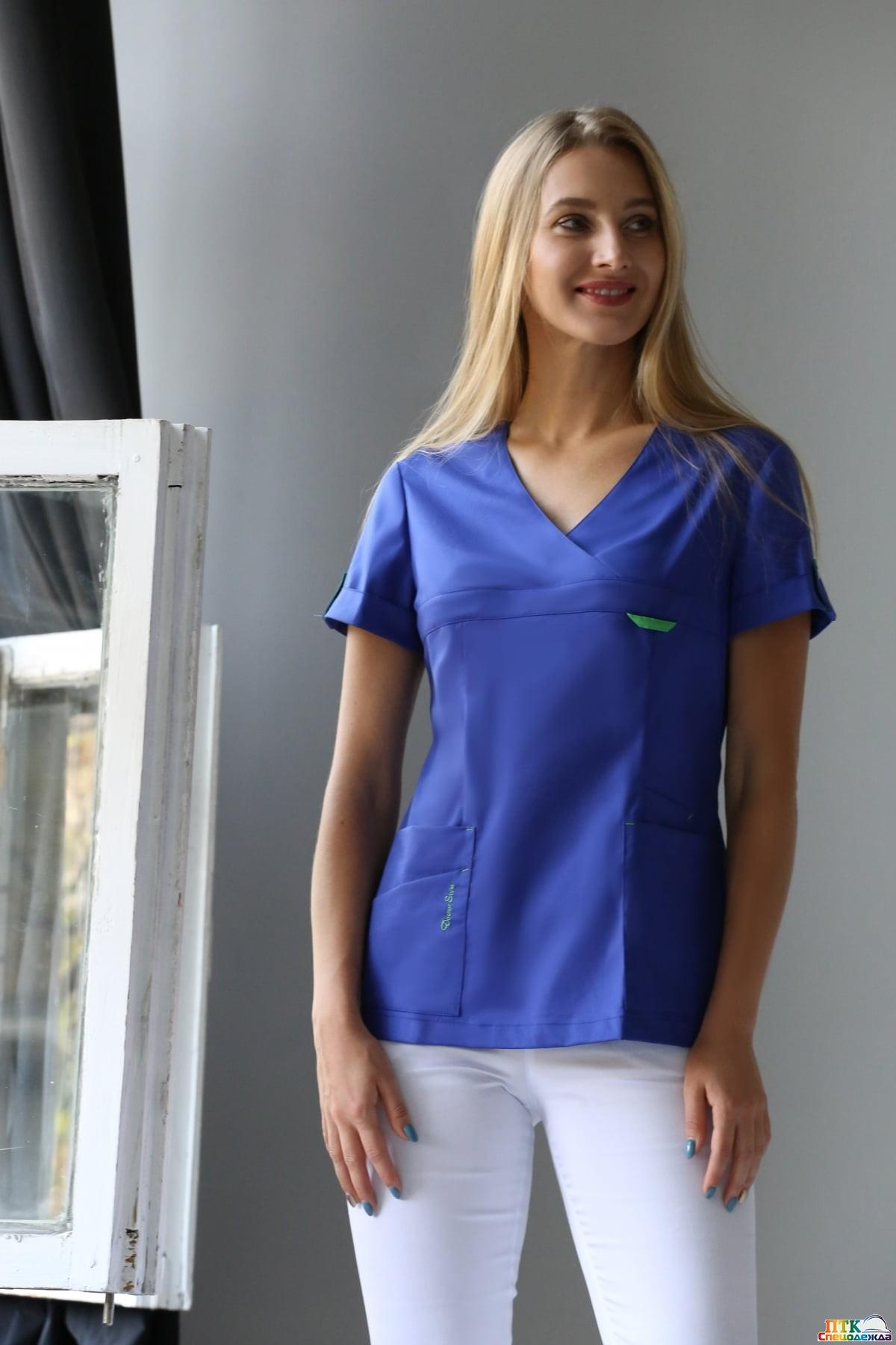 Блуза Альфа василек  (ЛУ 1230.05)