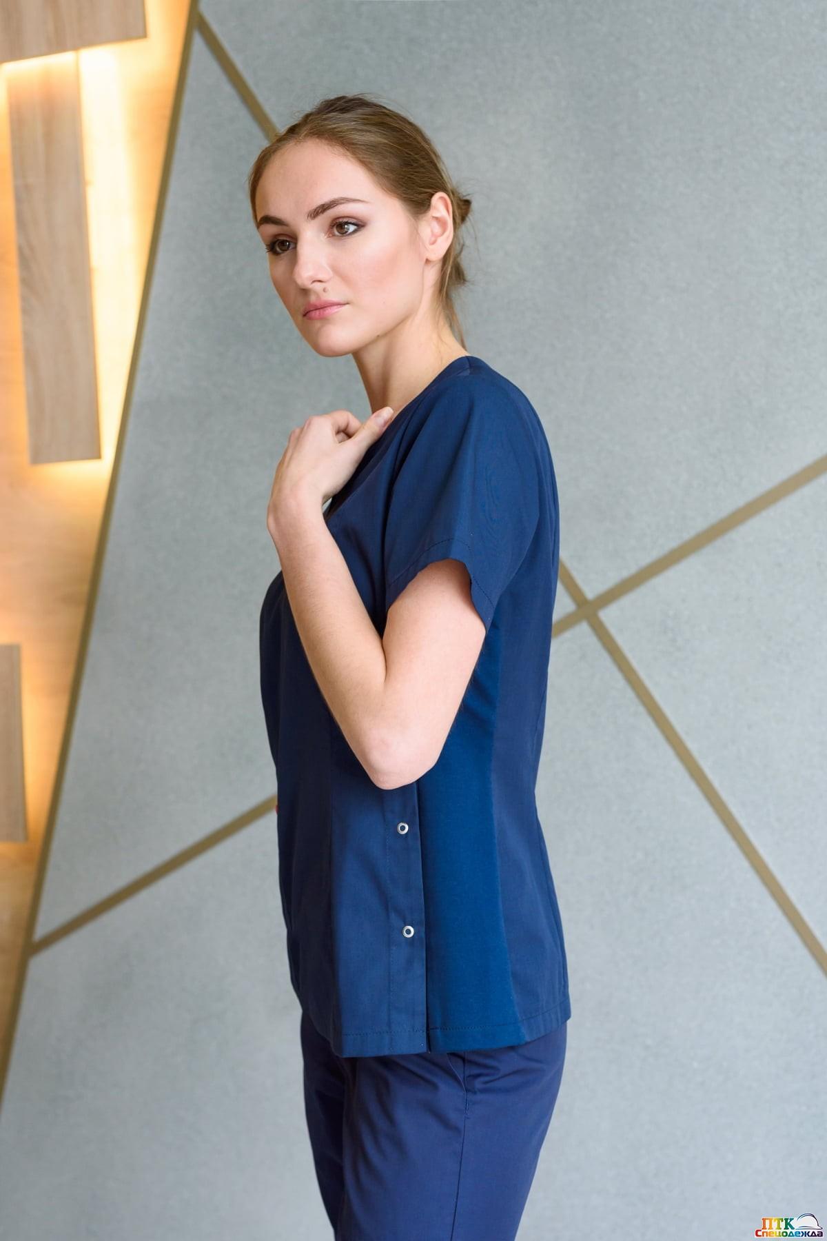 Блуза «Лапки», с трикотажной вставкой NEW (ЛС 3233.19)