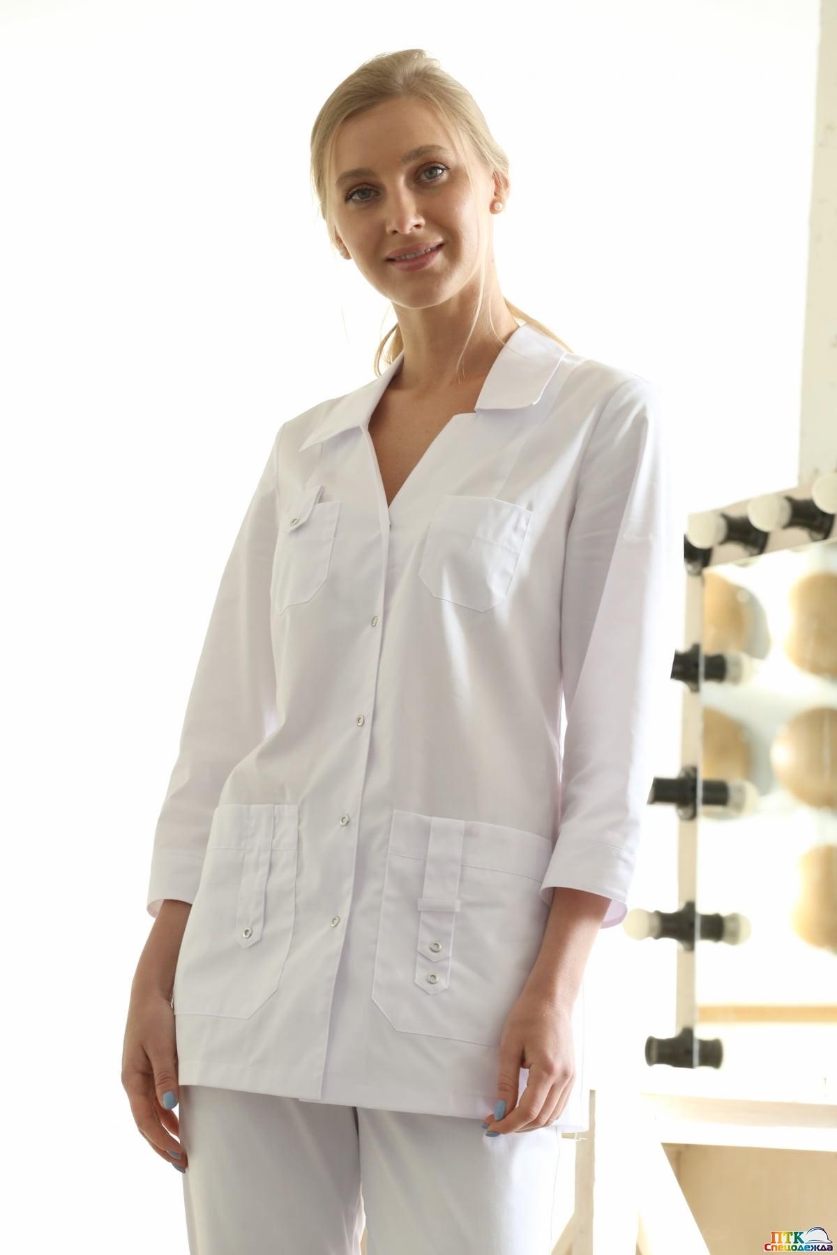 Блуза Лайм белого цвета