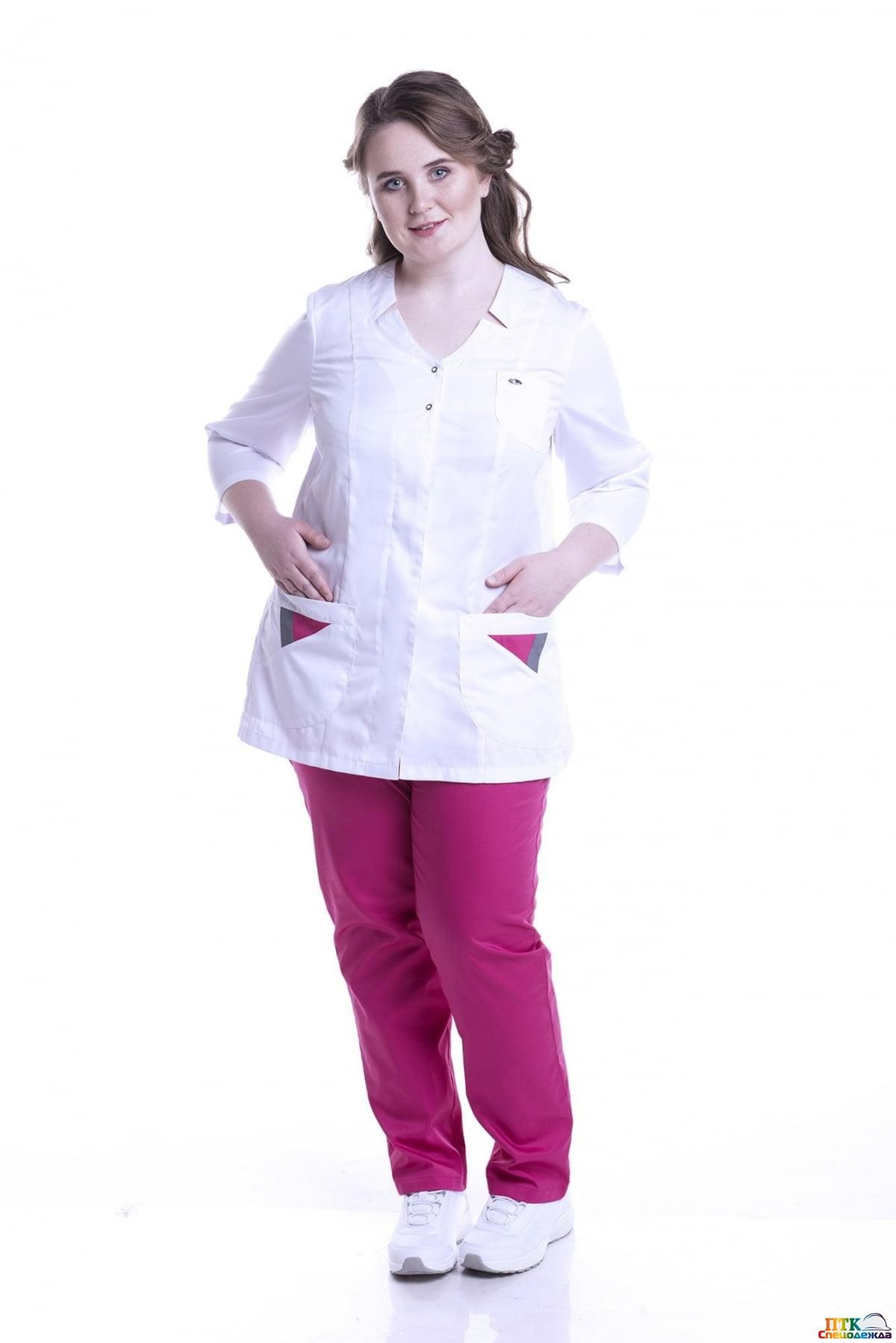 Блуза Подарок белого цвета