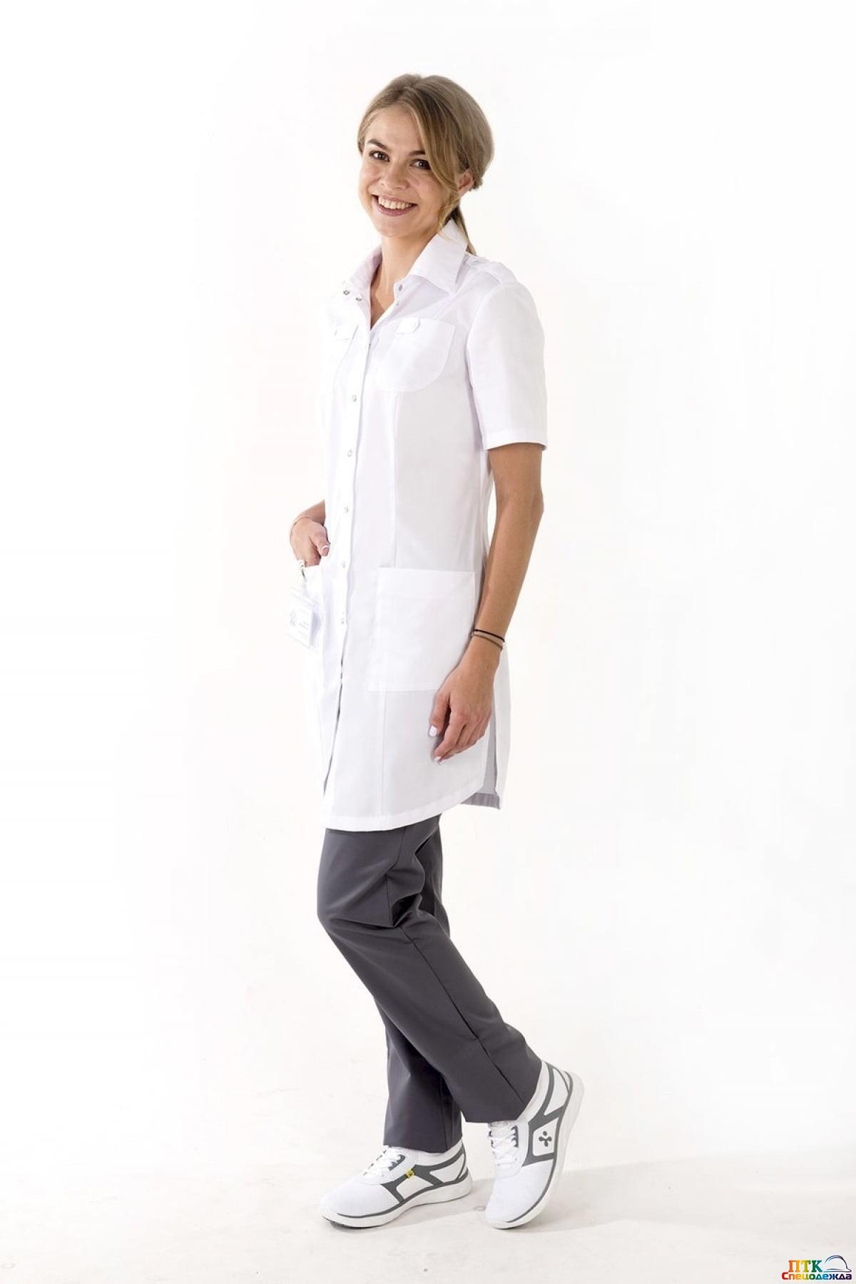 Блуза Сафари №1 белого цвета