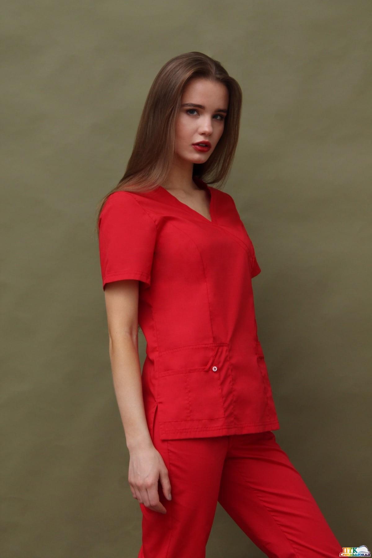 Блуза Терра, цвет красный
