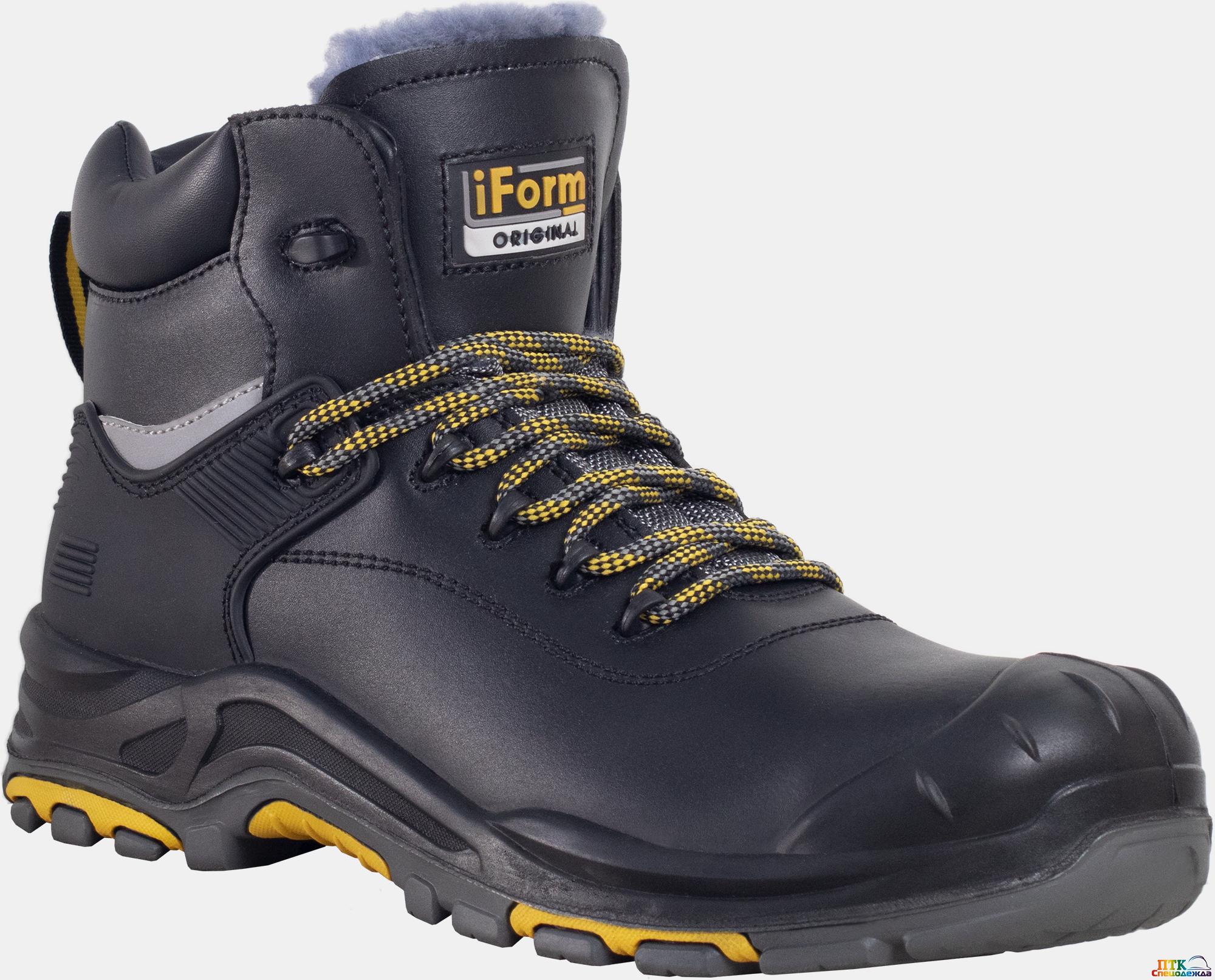 Ботинки iForm® ORIGINAL (ОРИДЖИНАЛ) с КП нат. мех, кожаные ПУ/нитрил (Бот 176)