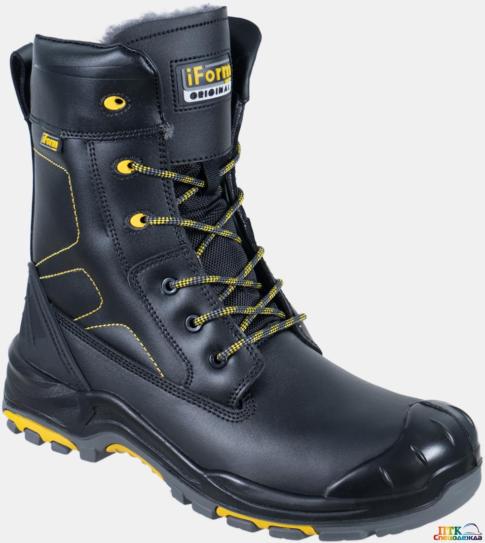 Ботинки iForm® ORIGINAL (ОРИДЖИНАЛ) высокий берец с КП шерст. мех, кожаные ПУ/нитрил (Бот 172)