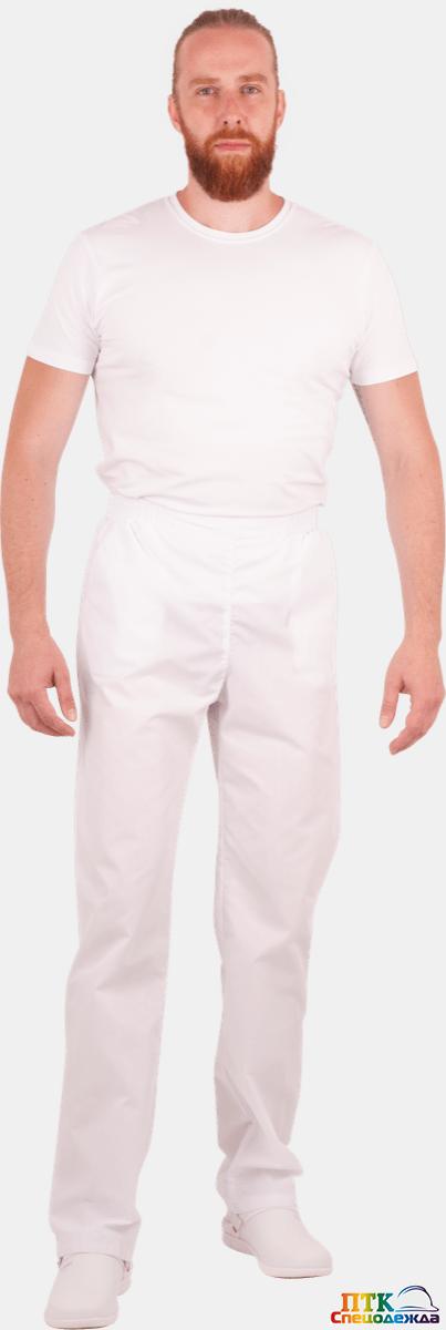 Брюки, белые, мужские (Брю 714)