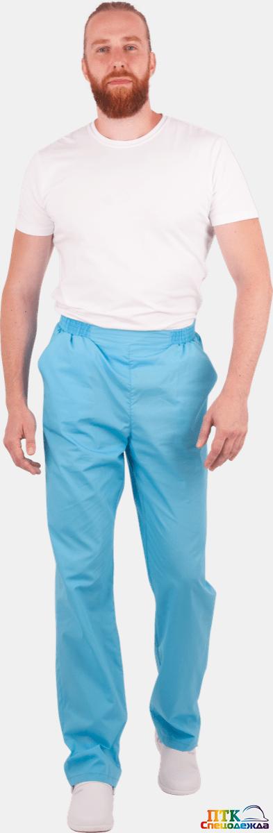 Брюки, голубые, мужские (Брю 716)