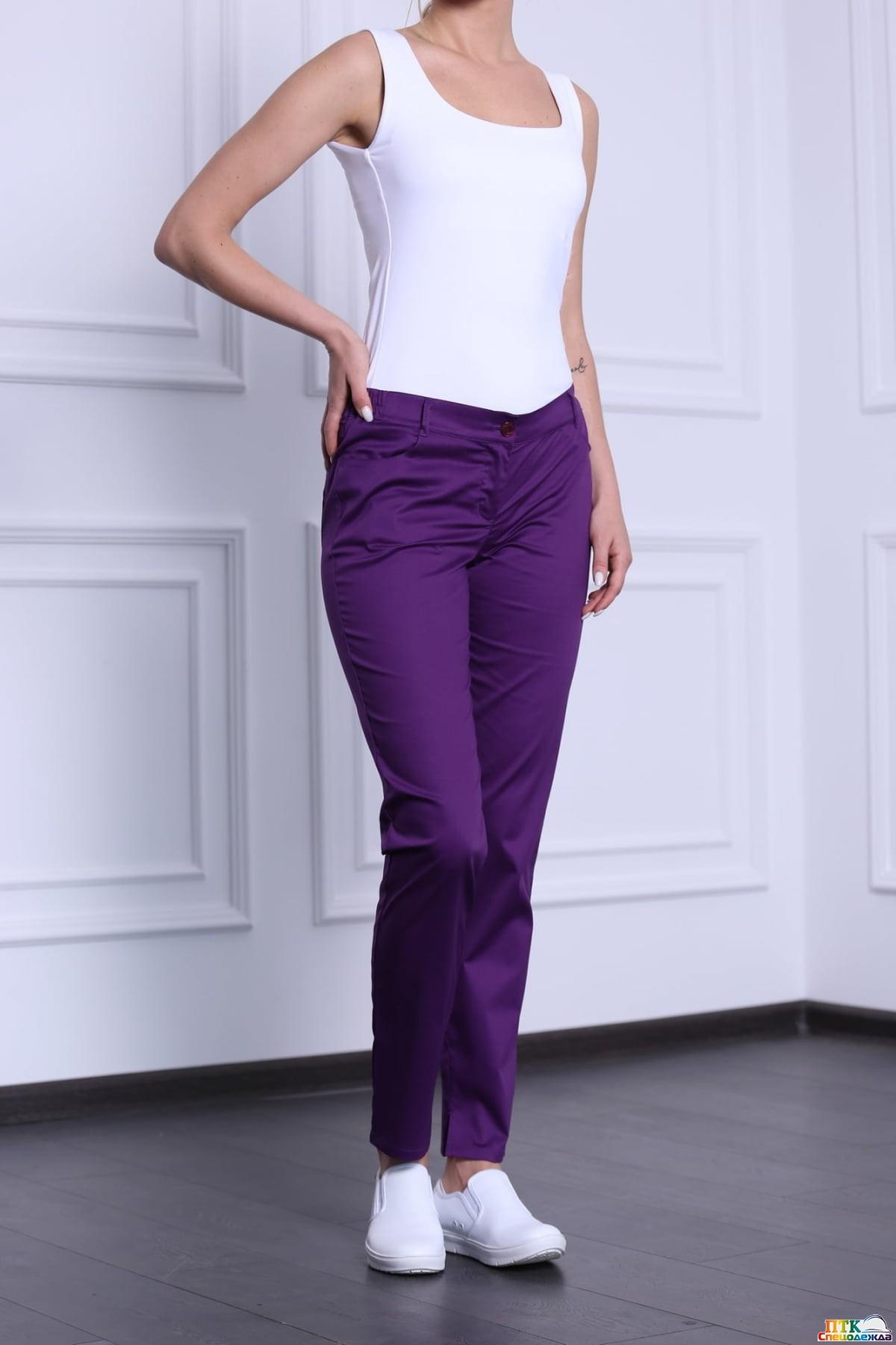Брюки женские, цвет фиолетовый