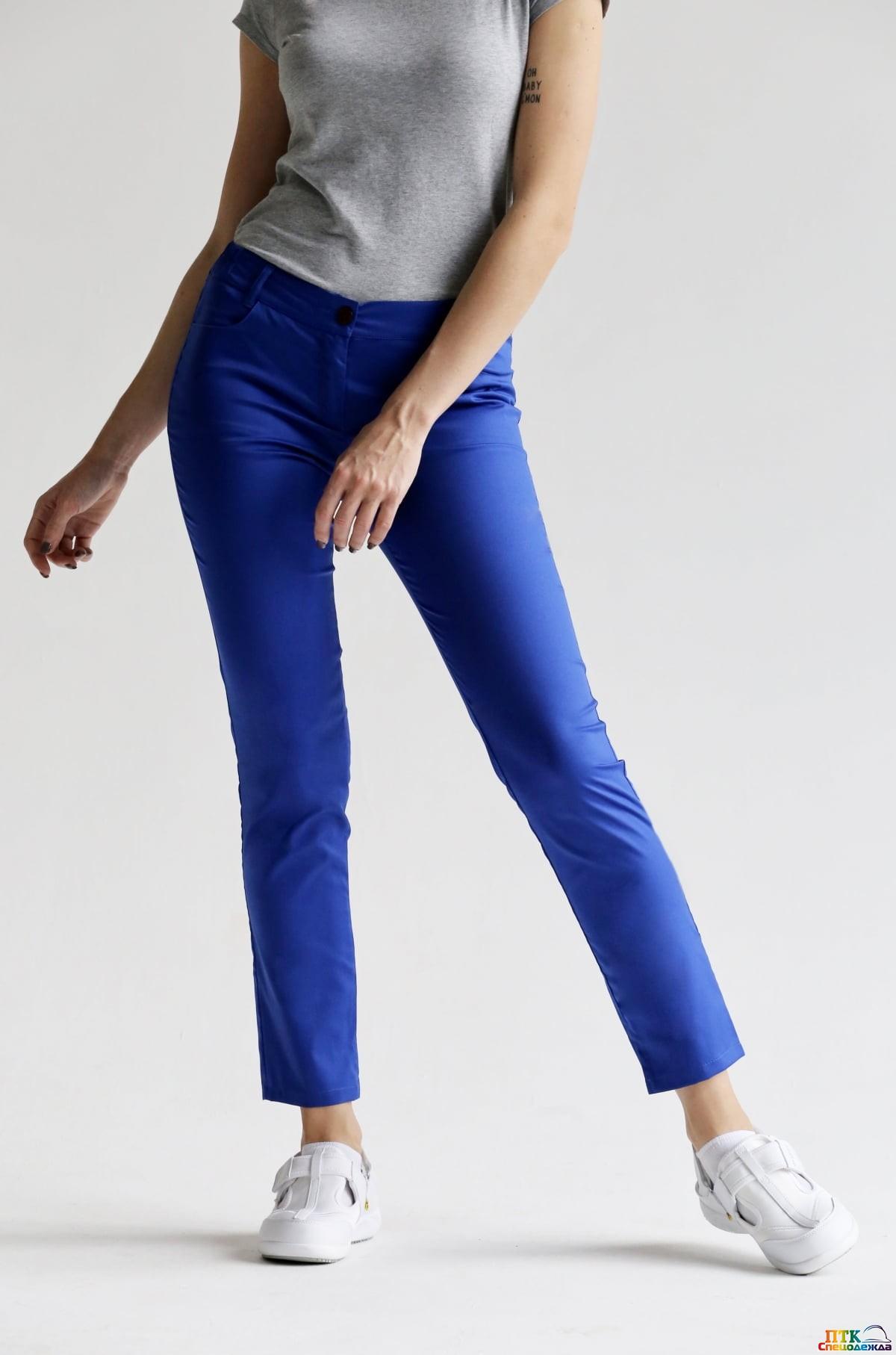 Брюки женские, цвет синий