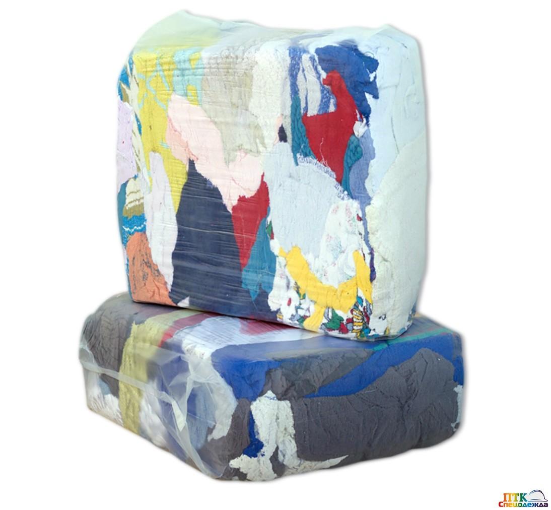 Ветошь цветные простыни (10 кг упаковка) (Вет 004)
