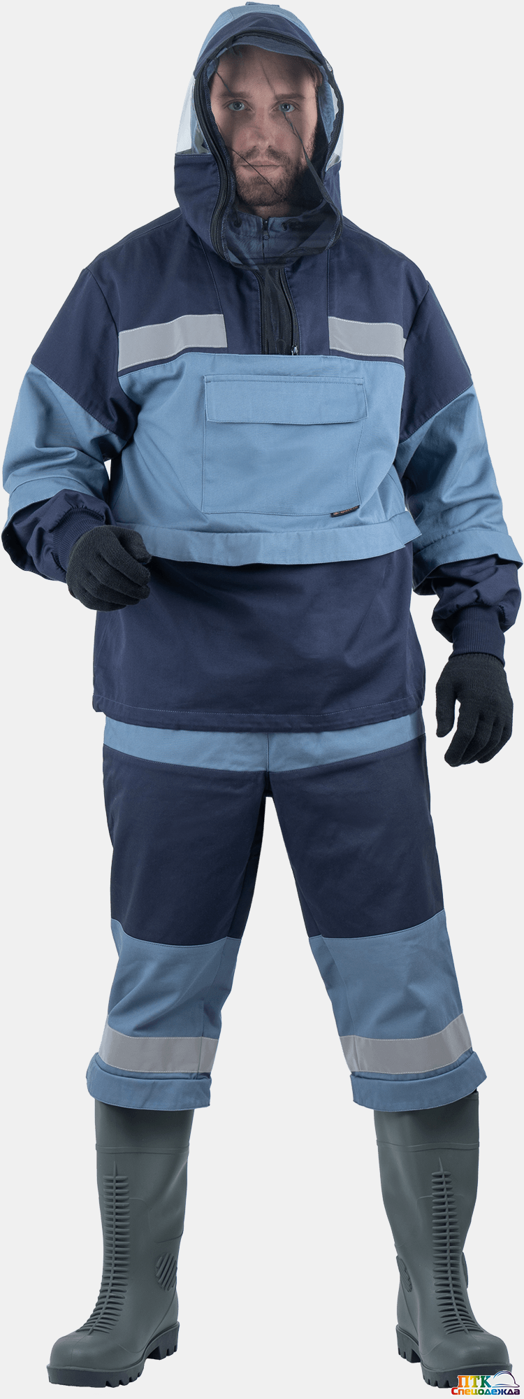 Костюм противоэнцефалитный БИОСЕЙФ ПРОТЕКТ, серый-синий