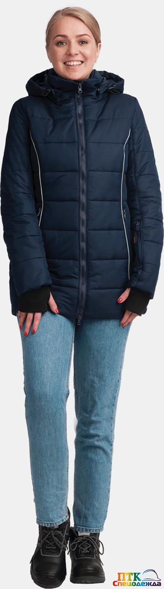 Куртка ФЬЮЖЕН утеплённая, т/синий, женская (Кур 668)