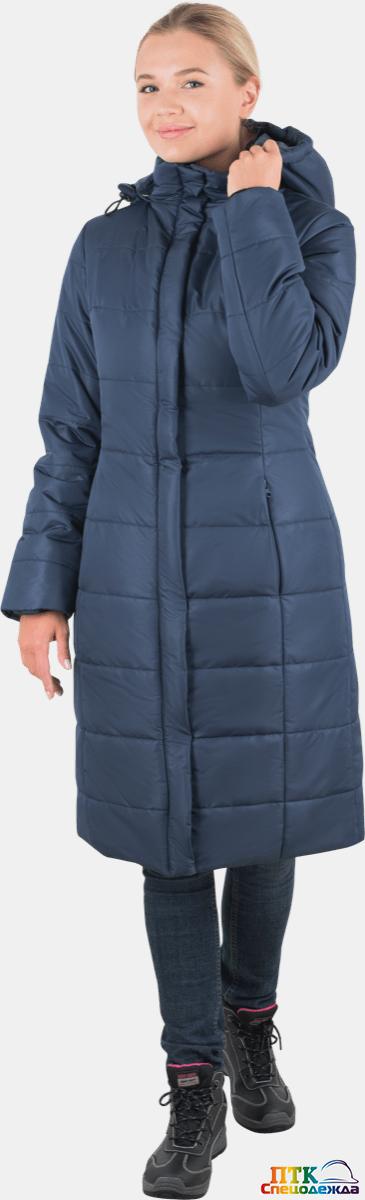Пальто ФЬЮЖЕН утеплённое, т/синий, женское (Пал 002)