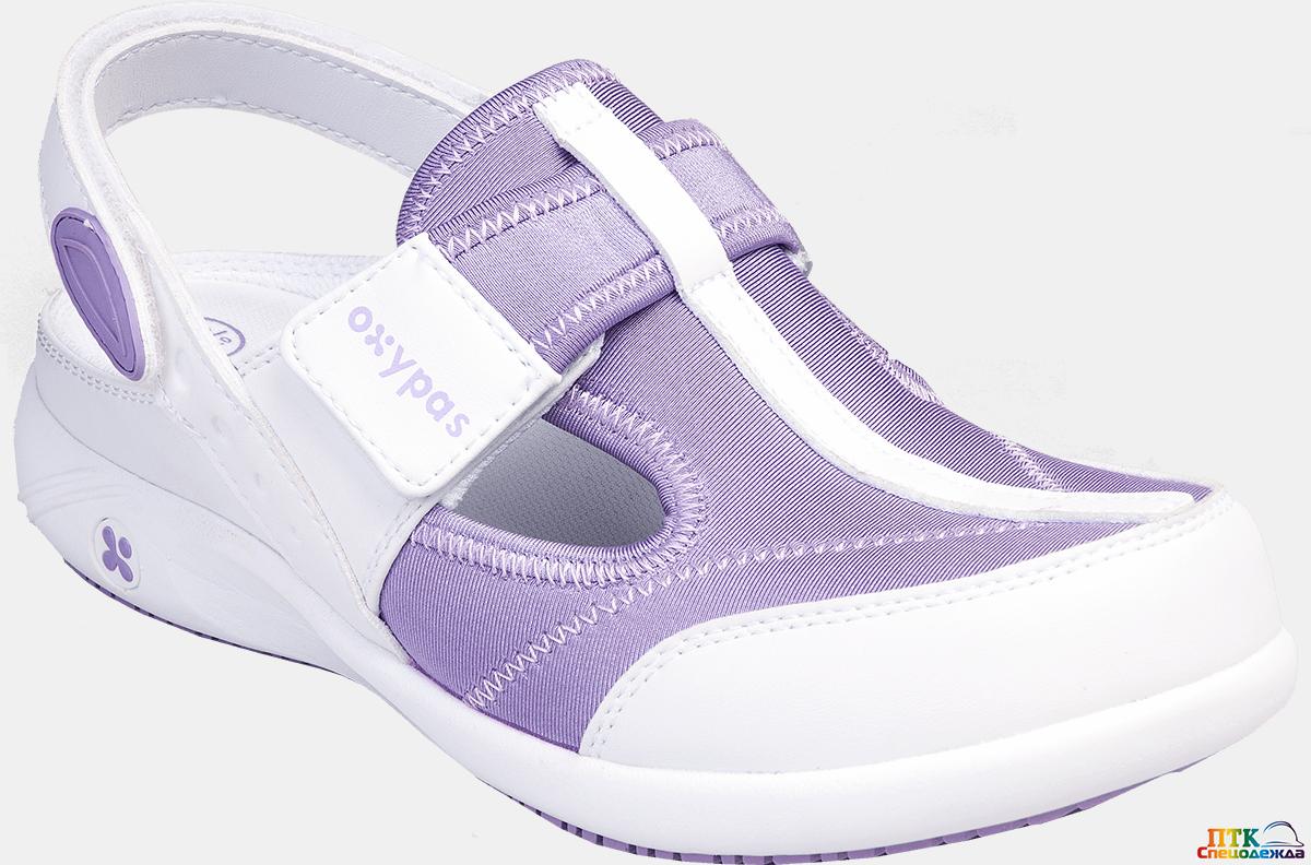 Сабо OXYPAS™ ANAIS (АНАИС), женские, кожа/лайкра ЭВА/резина (фиолетовый/LIC) (КРО 4324)