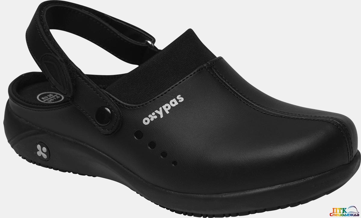 Сабо OXYPAS™ DORIA (ДОРИА), женские, кожаные ЭВА/резина (черный/BLK) (КРО 4332)