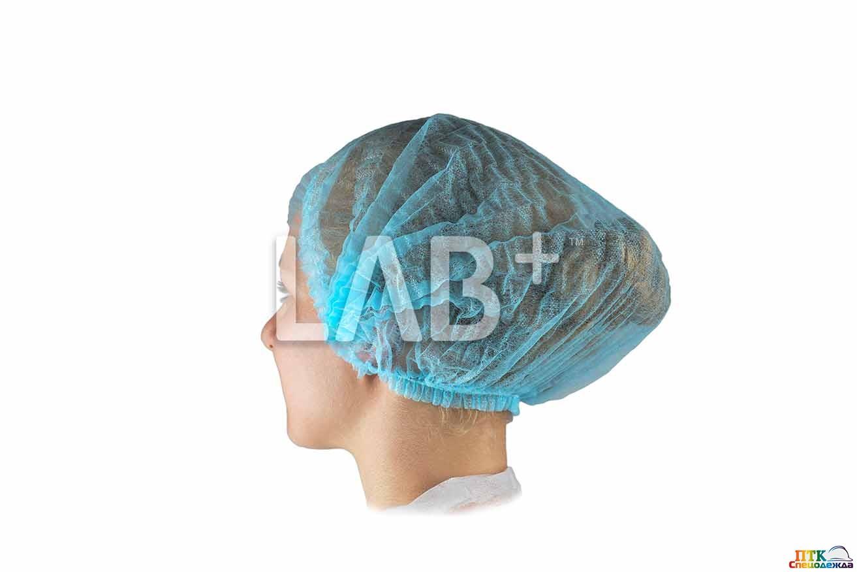 Шапочка ОДНОРАЗОВАЯ шарлотта, голубая, (LAB011) (Одо 013)